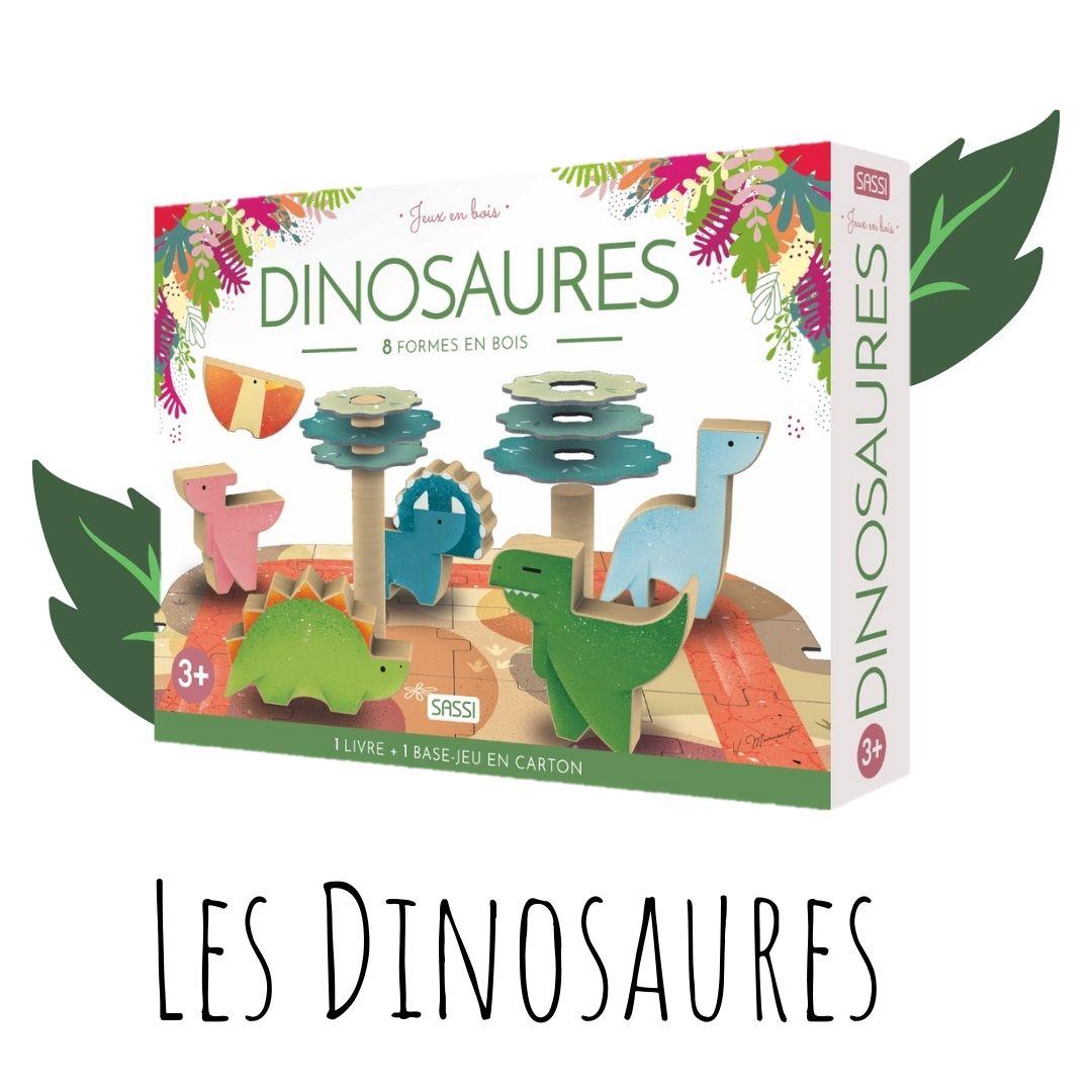 Jeux en bois. les dinosaures