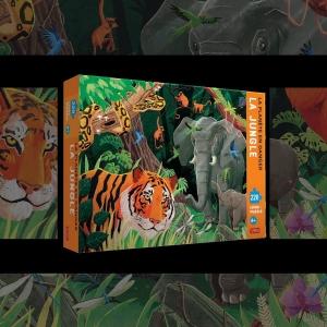 Lis et émerveille toi avec SASSI Junior 🦄   🌐 Disponible sur notre site internet http://www.sassijunior.fr et dans vos magasins de jouets et librairies préférés 🌐⠀ ⠀ #sassijunior #sassijuniorfrance #livrejeunesse #puzzle #elephant #tigre #jungle #nature #environnement #ecologie