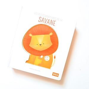 🦒 La savane abrite tout plein d'animaux 🦁 : découvre qui ils sont en feuilletant les pages 📖 de ce livre et appuie sur les boutons pour écouter leurs cris🐘 . . #livre #sonore #livresonore #animaux #animals #savane #savana #jeunesse #bebe #sassi #sassijunior #incroyable