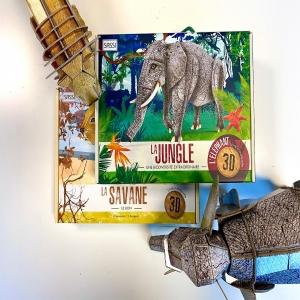 Wahouuu les maquettes 3D des animaux qui accompagnent George de la Jungle ✨  Lis le livre pour apprendre un tas de choses sur la savane et ses habitants, puis construis la maquette 3D du lion et de l'éléphant 🦁🐘  Lis et émerveille toi avec SASSI Junior 🦄⠀ ⠀ 🌐 Disponible sur notre site internet http://www.sassijunior.fr et dans vos magasins de jouets et librairies préférés 🌐⠀ ⠀ #sassijunior #sassijuniorfrance #livrejeunesse #maquette #livre #puzzle #animals #lion #elephant