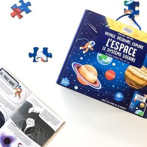 Pars à la découverte de l'espace 🪐 et du système solaire ☀️ avec SASSI ! Construis le puzzle et lis le livre pour en apprendre plus sur le monde fascinant de notre univers 💫 . . . . . . . . #espace #univers #systemesolaireenfant #puzzle #livrejeunesse #puzzleenfant #sassijunior #puzzlesassi #saturne